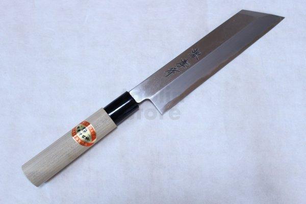 Photo2: SAKAI TAKAYUKI Japanese knife Kasumitogi Yasuki white steel Mukimono knife 180mm