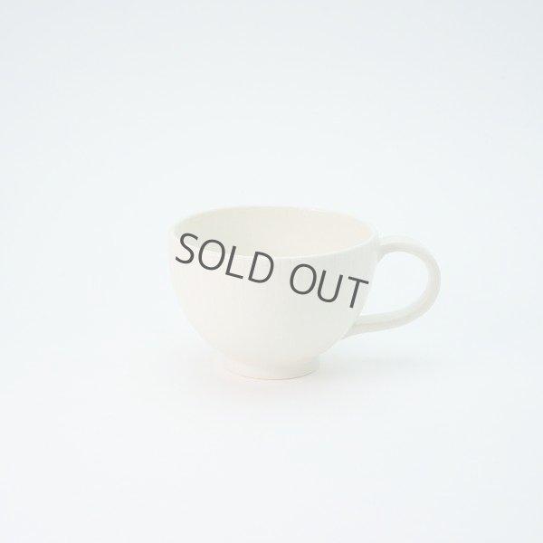 Photo1: Kiyomizu Japanese pottery tea mug coffee cup Daisuke itome white maru 120ml