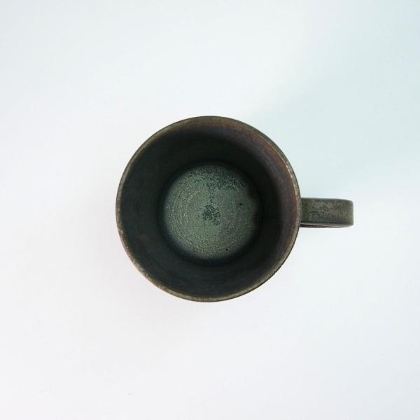 Photo2: Kiyomizu Japanese pottery tea mug coffee cup Daisuke itome black 250ml