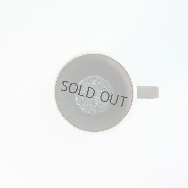 Photo2: Kiyomizu Japanese pottery tea mug coffee cup Daisuke white-line black 250ml