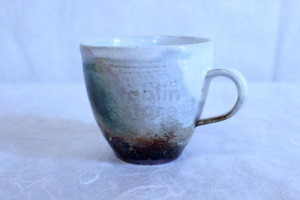 Photo2: Hagi yaki ware Japanese pottery mug coffee cup san sai seigan 330ml