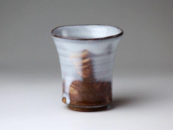 Photo1: Hagi ware Japanese pottery Sake cup hakuyu white glaze Keichiro Sho shot 100ml
