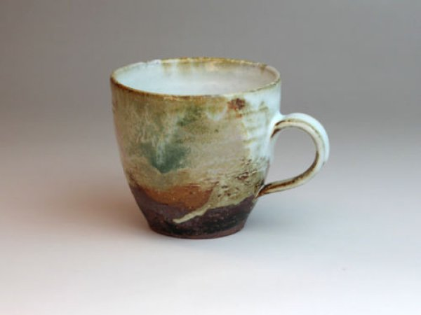 Photo1: Hagi yaki ware Japanese pottery mug coffee cup san sai seigan 330ml