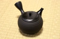 Tokoname Japanese tea pot kyusu Gyokko pottery tea strainer black dei ma 300ml