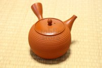 Tokoname Japanese tea pot kyusu Gyokko pottery tea strainer shudei red L 500ml