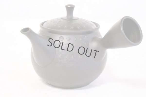 Photo2: Tokoname ware Japanese tea pot kyusu ceramic strainer YT Hokuryu in plum 300ml