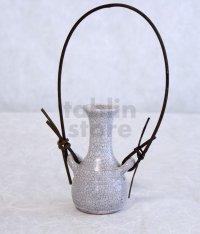 Shigaraki Japanese pottery Vase small kannyutsuru  H 10cm