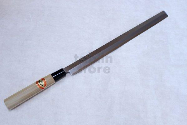 Photo2: SAKAI TAKAYUKI Japanese knife Kasumitogi Yasuki white steel Tako hiki Sashimi