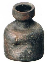 Shigaraki pottery MG Japanese wall-hanging vase uzu kamahen H13cm