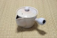 Hagi yaki ware Japanese tea pot Hime L kyusu pottery tea strainer 420ml