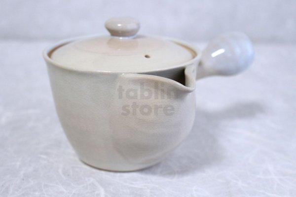 Photo2: Hagi yaki ware Japanese tea pot Hime L kyusu pottery tea strainer 420ml