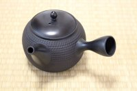 Tokoname Japanese tea pot kyusu Gyokko pottery tea strainer black dei L 500ml