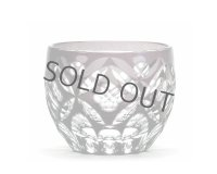 Edo kiriko glass cup tumbler shippohanabishi purple 85ml