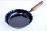 Japanese Frying Pan wooden handle round wahei D16cm made in Japan