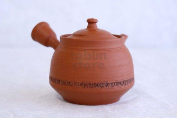 Photo2: Tokoname Japanese tea pot kyusu pottery YT syudei red clay Takao Muragshi 280ml