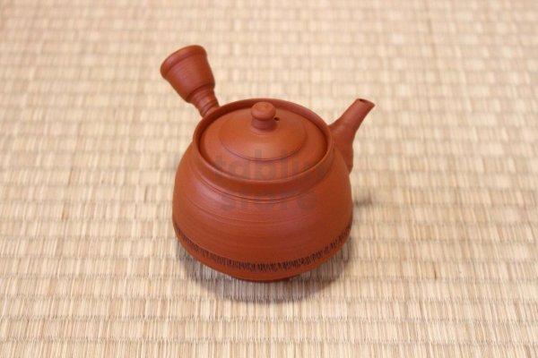 Photo1: Tokoname Japanese tea pot kyusu pottery YT syudei red clay Takao Muragshi 280ml