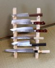 Photo3: Japanese wooden knife stand display holder tower rack for six knives