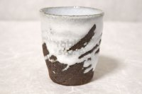 Hagi Senryuzan climbing kiln Japanese pottery tumbler white nagashi go