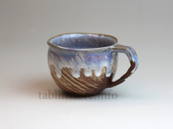 Photo1: Hagi ware Japanese pottery mug coffee cup kai hake Chinshu 380ml