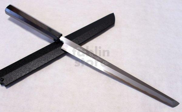 Photo1: SAKAI TAKAYUKI Japanese knife Byakko Yasuki White-1 steel Sakimaru Takohiki (Sashimi)