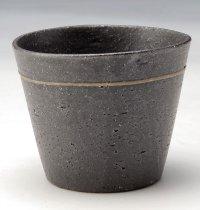 Shigaraki Japanese pottery sake cup tumbler tsuchi kokusai black 320ml