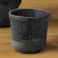 Shigaraki Japanese pottery sake cup tumbler tsuchi kokuen 300ml