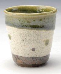 Shigaraki Japanese pottery sake cup tumbler tsuchi wakakusa 300ml