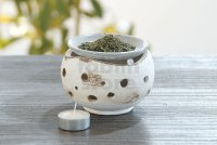 Shigaraki pottery tsuchi Japanese tea aroma incense burner holder boro H8.5cm