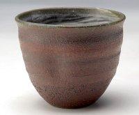 Shigaraki Japanese pottery sake cup tumbler tsuchi akane bordeaux 300ml