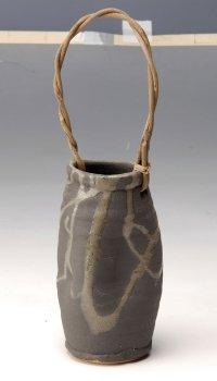 Shigaraki Japanese pottery Vase tsuchi henkeitsutsunagashi H 18cm