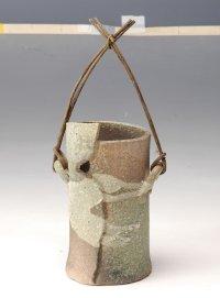 Shigaraki Japanese pottery Vase tsuchi awase sunakake  H 20cm
