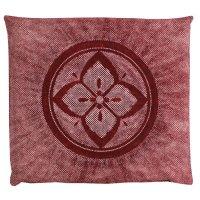 Japanese floor pillow cushion cover zabuton cotton flower hanakanoko 55 x 59cm