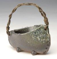 Shigaraki Japanese pottery Vase tsuchi seiyohen ashitsuki  H 13cm
