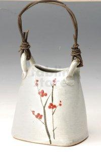 Shigaraki Japanese pottery Vase tsuchi hanaekaku  H 17cm