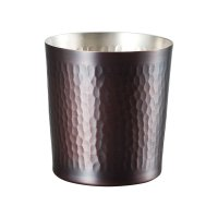Wahei Copper Japanese Tumbler Bar Mugs dimple type 300ml set of 2