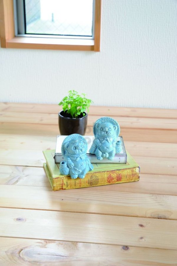 Photo1: Shigaraki wabe Japanese pottery Tanuki Cute small Raccoon Dog set of 2 any color