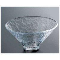 Japanese glass Yoshinuma motosu Sashimi washoku bowl D 15cm