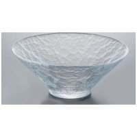 Japanese glass Yoshinuma motosu Sashimi washoku bowl D 18cm
