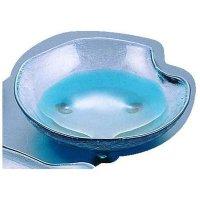 Japanese glass Yoshinuma chichibu kataori Sashimi bowl blue D 18cm