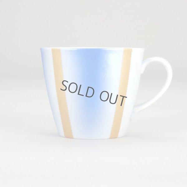 Photo2: Kutani Porcelain sd Japanese mug coffee tea cup blue gold 320ml