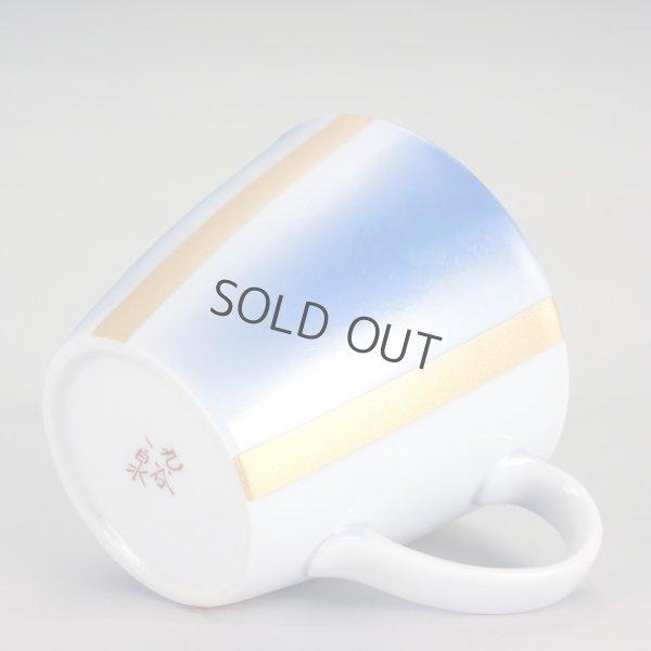 Photo4: Kutani Porcelain sd Japanese mug coffee tea cup blue gold 320ml