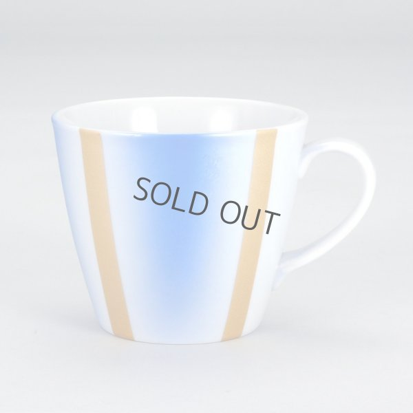 Photo1: Kutani Porcelain sd Japanese mug coffee tea cup blue gold 320ml