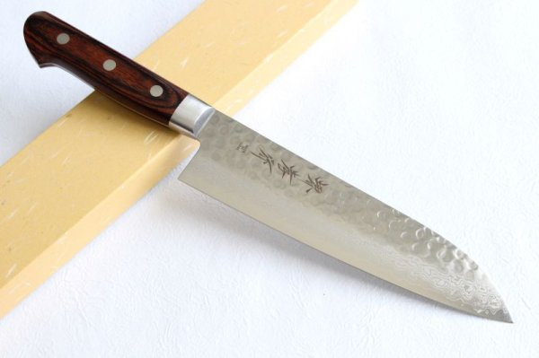Photo1: SAKAI TAKAYUKI Damascus 17 Layer VG10 Santoku knife 180mm
