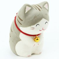 Japanese Washi Paper craft bow Mike neko cat H10.5cm any color