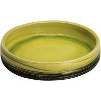 Ikebana Suiban Vase Shigaraki Japanese pottery Round yellow D 31.5cm