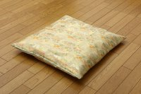 Japanese floor pillow cushion cover polyester brocade Kinran