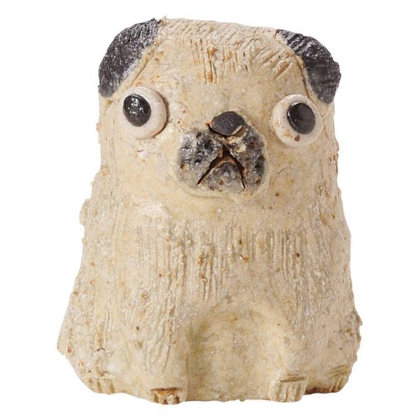 Photo2: pug dog Shigaraki pottery Japanese doll H6cm