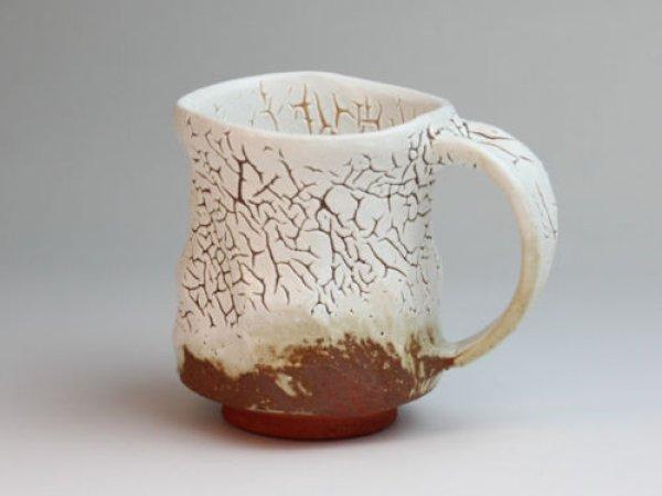 Photo2: Hagi ware Japanese pottery mug coffee tea cup Kashun yuki 280ml