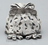 Shigaraki pottery Japanese doll lucky owl gray H55mm