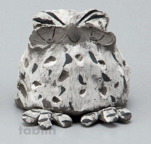 Photo1: Shigaraki pottery Japanese doll lucky owl gray H55mm